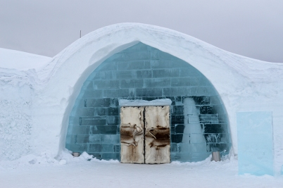 entrance to the Ice Hotel