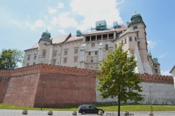 the backside of Wawel Castle
