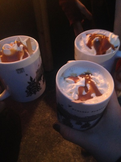 hot caramel drinks, in our new mugs!