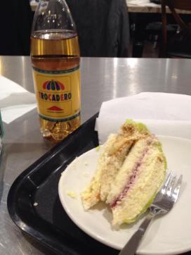 one last taste of Swedish before I left the airport! Trocadero/Princess cake