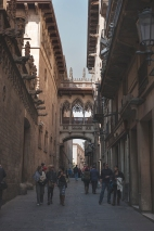 near the Barcelona cathedral